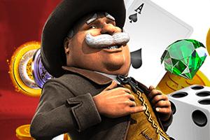 персонаж покерной комнаты betonline с картами и игральными костями