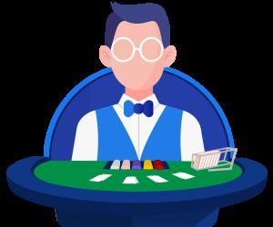 значок казино с живым дилером