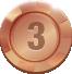 обладатель джекпота онлайн-казино, третье место, бронзовая медаль