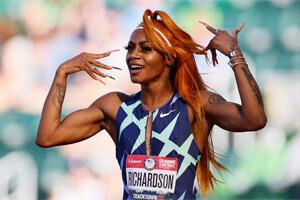 олимпийский легкоатлетический бегун ша'карри ричардсон