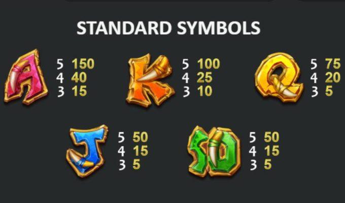 стандартные символы игрового автомата